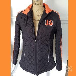 Bengals NFL jacket coat sz medium